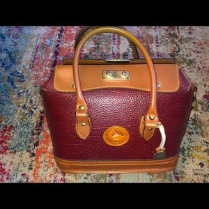 Dooney and Bourke maroon leather satchel purse